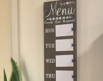 Kitchen Menu Board Etsy