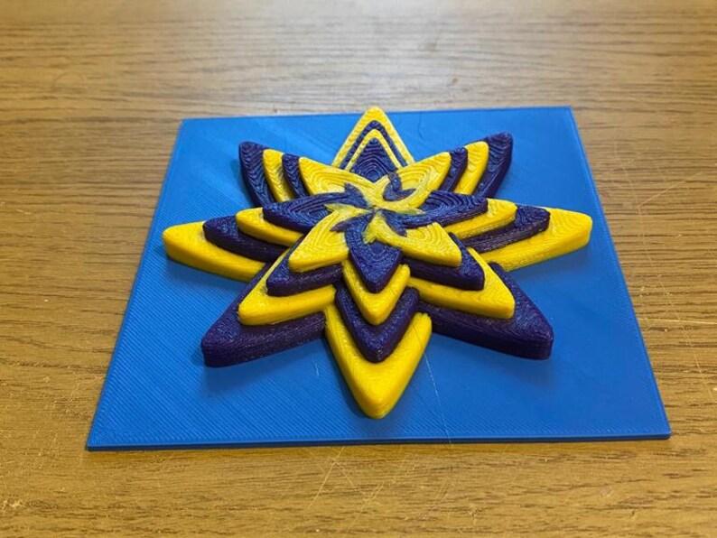3D Printed Modular Flower Tiles
