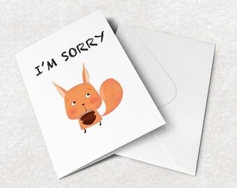 bitch sorry card sweary sorry card naughty sorry card funny sorry card printable sorry card