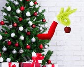 2020 stink stank stunk Grinch Christmas Gabriely Furry Green Arms for Christmas Tree,Furry Green Arm Ornament Holder for The Christmas Tree