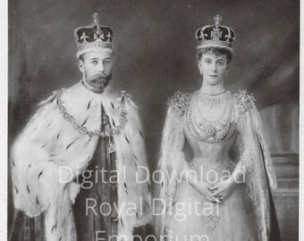 Queen Mary /& Prince of Wales Repro Card NS36 Nostalgia Postcard King George V