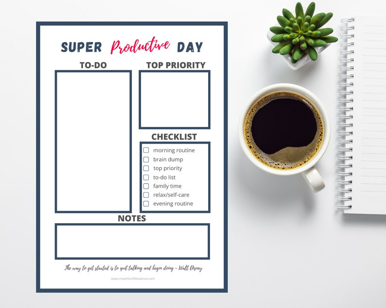 Super Productive Day Printable image 0