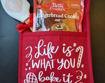 Great Holiday Gift / Teacher Gift / Christmas Potholder / Cookie Gift for Christmas / Oven Mitt Gift