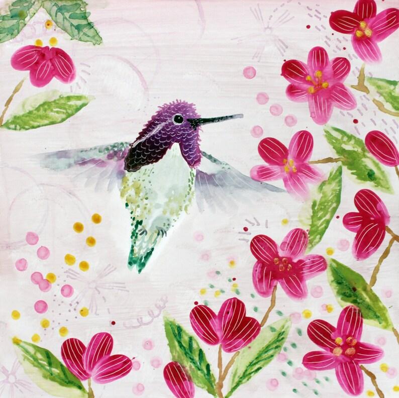 Costa Hummingbird  Original Art  Ready to Hang image 0