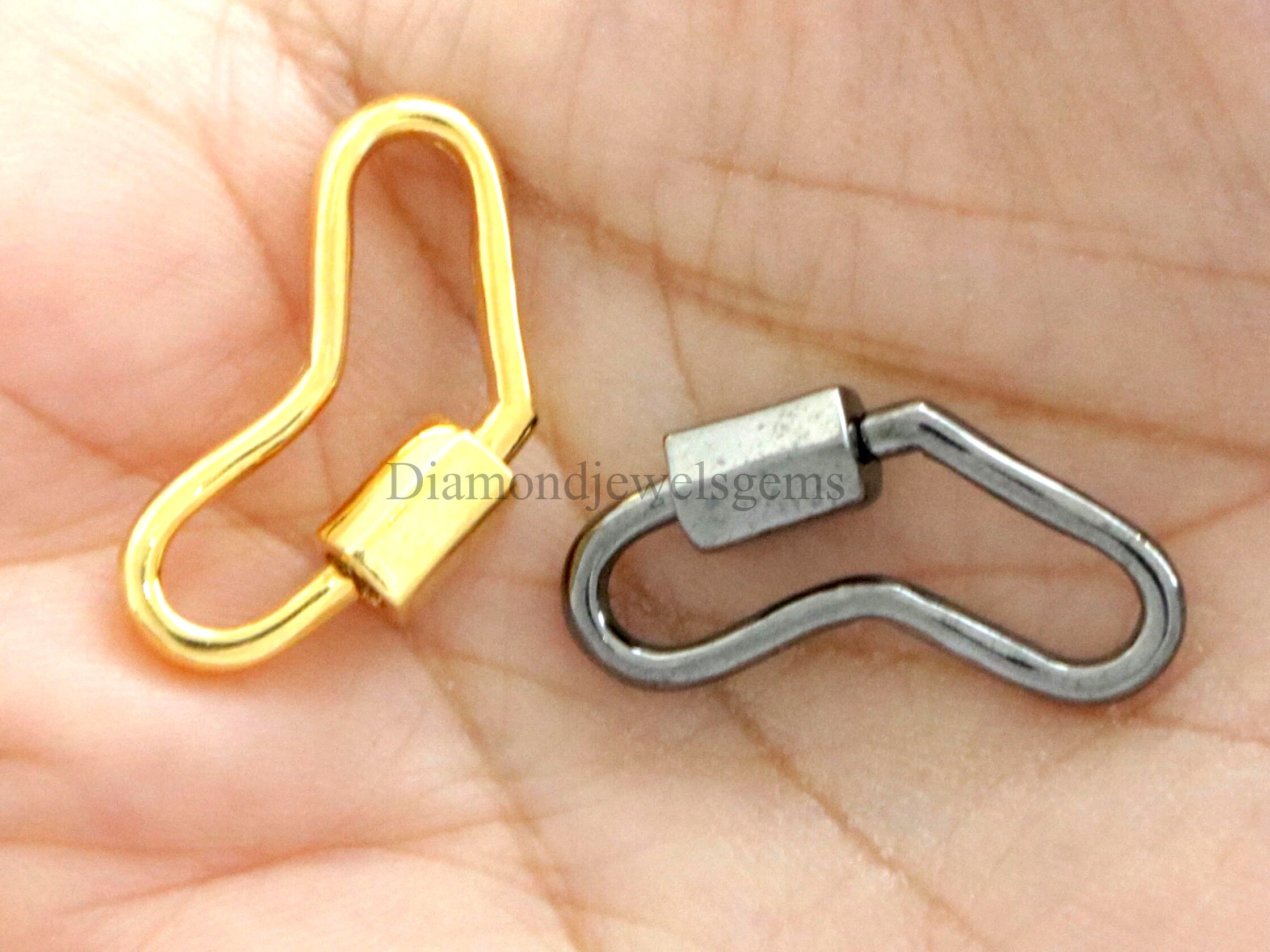 925 Sterling Silver Clasp Carabiner Lock Finding Enamel Jewelry Accessories GIFT