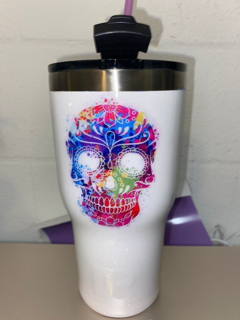Custom Sugar Skull 30 oz Tumbler image 0
