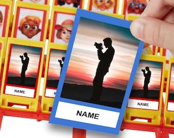 Custom Guess Who Board Game Template (Editable and Printable)