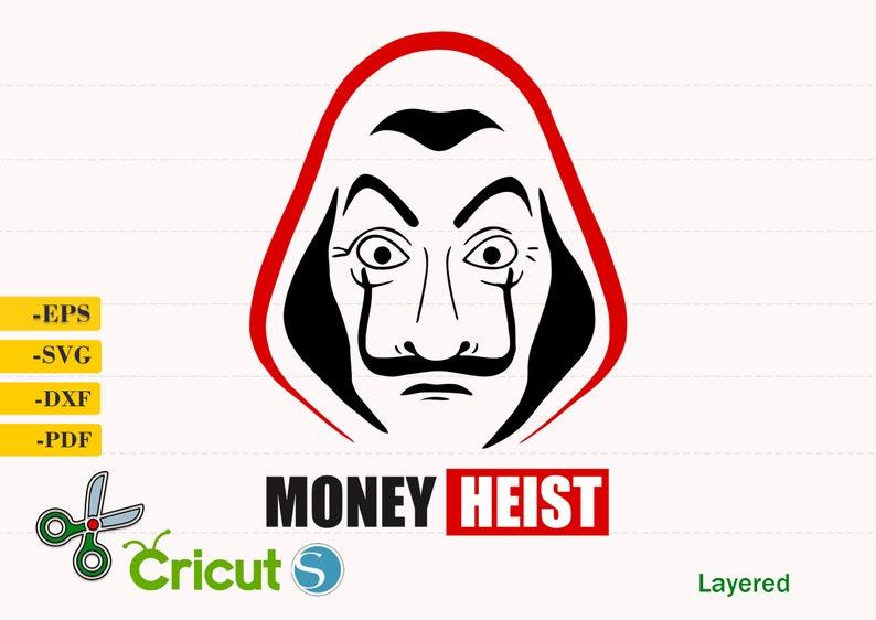 Download Money Heist Svg Money Heist cut file Silhouette Vector   Etsy