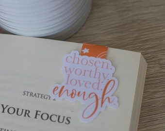 Chosen, Worthy, Loved, Enough Magnetic Double Sided Bookmark