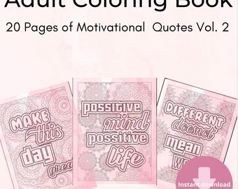 20 Motivational Coloring Page Vol 1.
