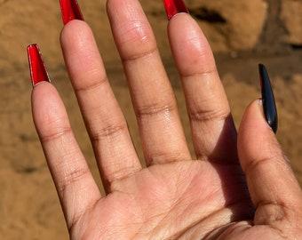 Red Bottom Nails   Custom Press On Nails