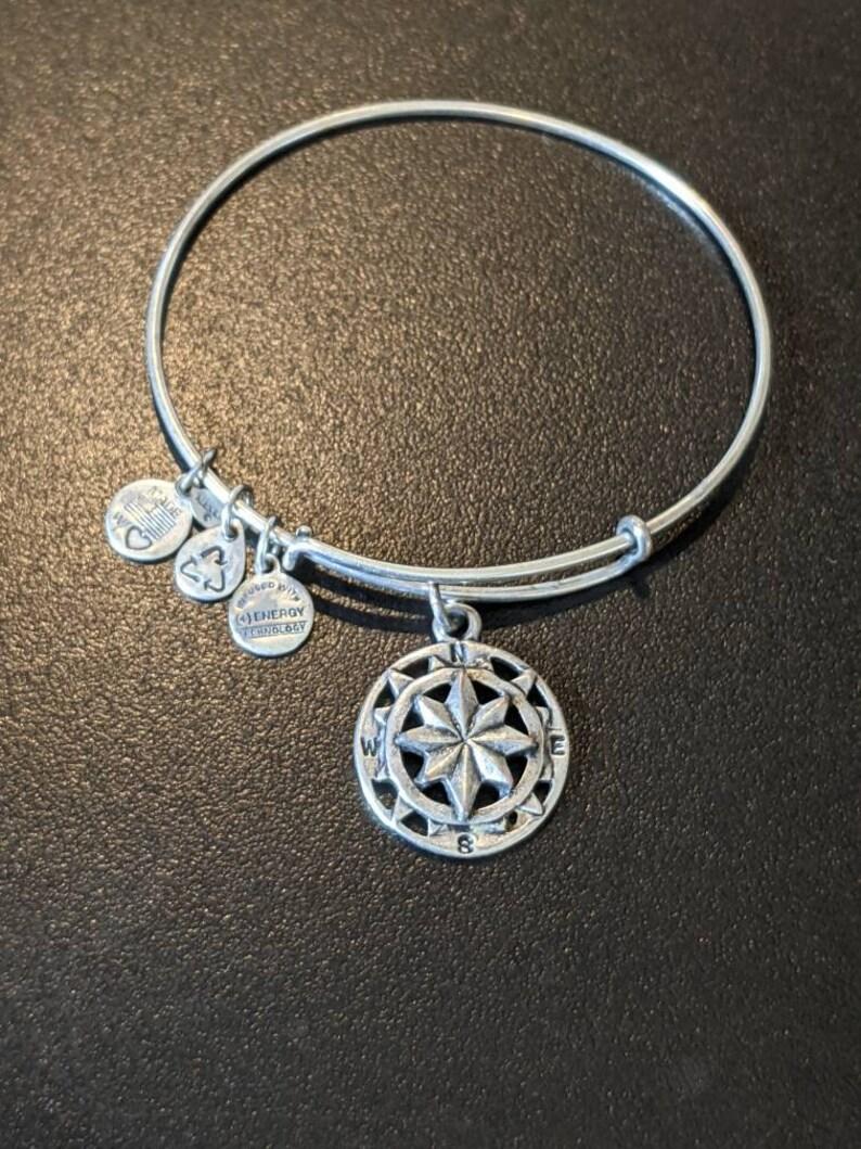 Alex and Ani Compass Charm Bangle Bracelet