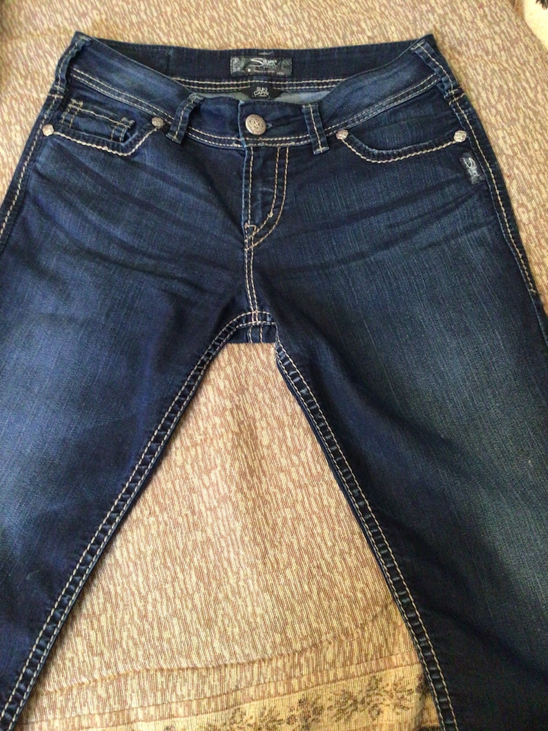 Silver Suki Capri 28 Sequins Pockets