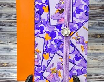 Notebook Cover, Purple Dragon Notebook, Vinyl Cover, Composition Notebook Cover, Elements Notebook Cover, Composition Cover, Imagination