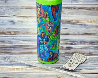 Ghostbuster Tumbler, Slime Tumbler, 80s Tumbler, 20oz Tumbler, Double Wall Stainless Steel Tumbler, Ghost Tumbler,  Ghost Chasers