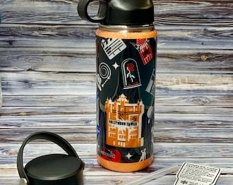 Attractions Water Bottle, Parks Water Bottle, Water Bottle, 18oz Water Bottle, Double Wall Stainless Steel Water Bottle
