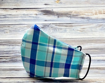 Casual Face Mask, Nautical Face Mask, Preppy Face Mask, Washable Face Mask, Reusable Face Mask, 100% Cotton Face Mask, Southern, Spring Mask