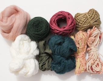 oatmeal wool black 12 yard cut strips Rug hooking wool bundles mixed bundle pack natural white Neutral rug hooking wool