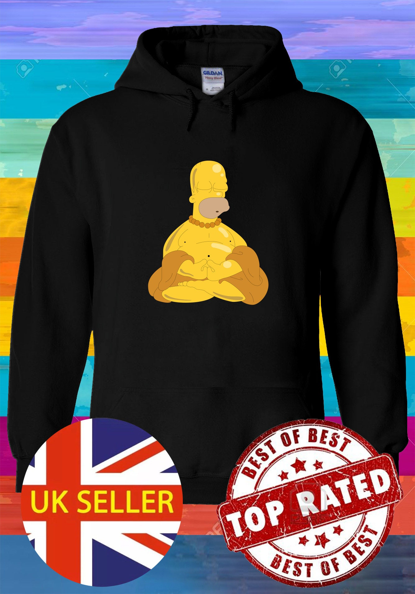 Die Simpsons nackt und glücklich Homer Hoodie Sweatshirt