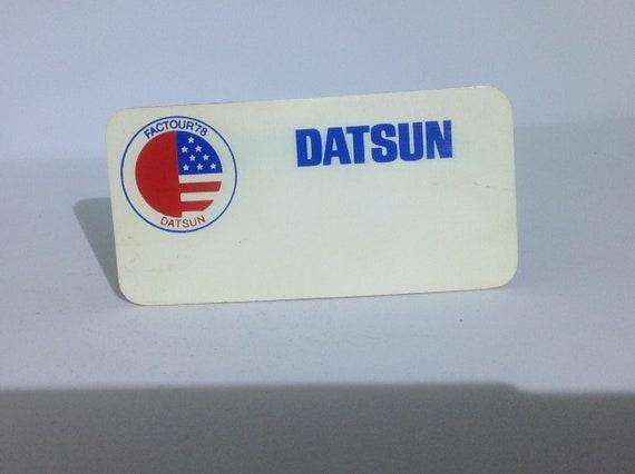 DATSUN EMPLOYEE / SALESPERSON name badge tag