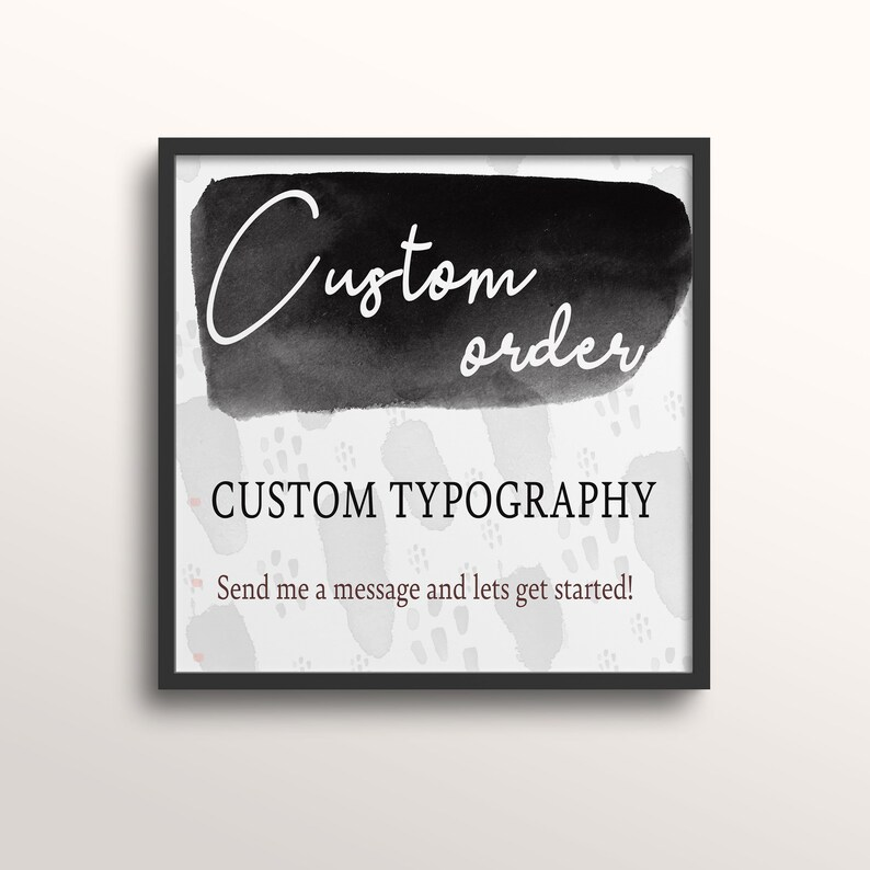 custom piece wall art Custom Order Typography printable wall art home decor digital download