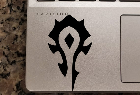 WoW inspired Horde Macbook Trackpad Decal Car Decal Laptop Decals etc...