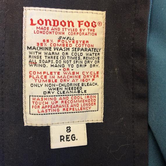London Fog Maincoats Teal Vintage Trench Coat - image 3