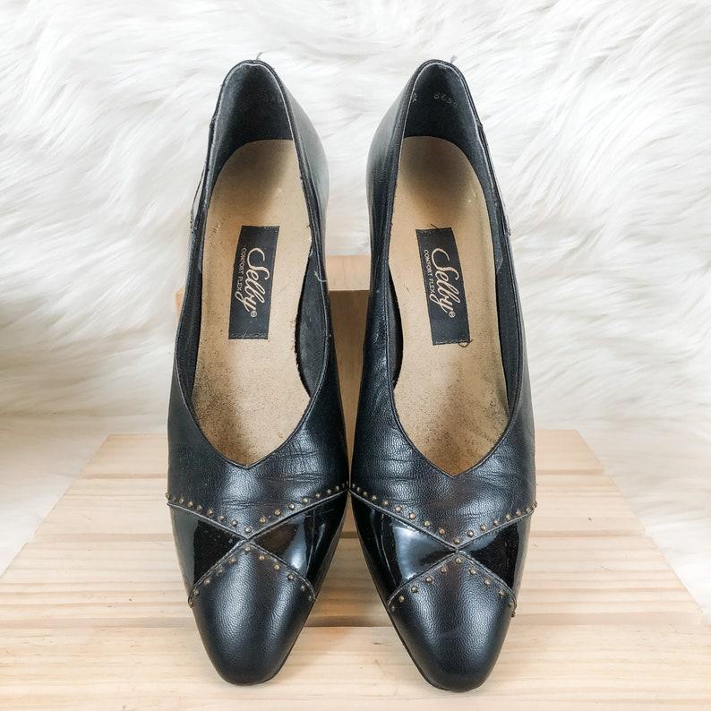Selby Comfort Pumps Vintage Black Multi-leather