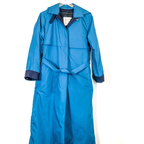 London Fog Maincoats Teal Vintage Trench Coat