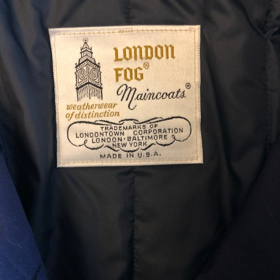 London Fog Maincoats Teal Vintage Trench Coat - image 2