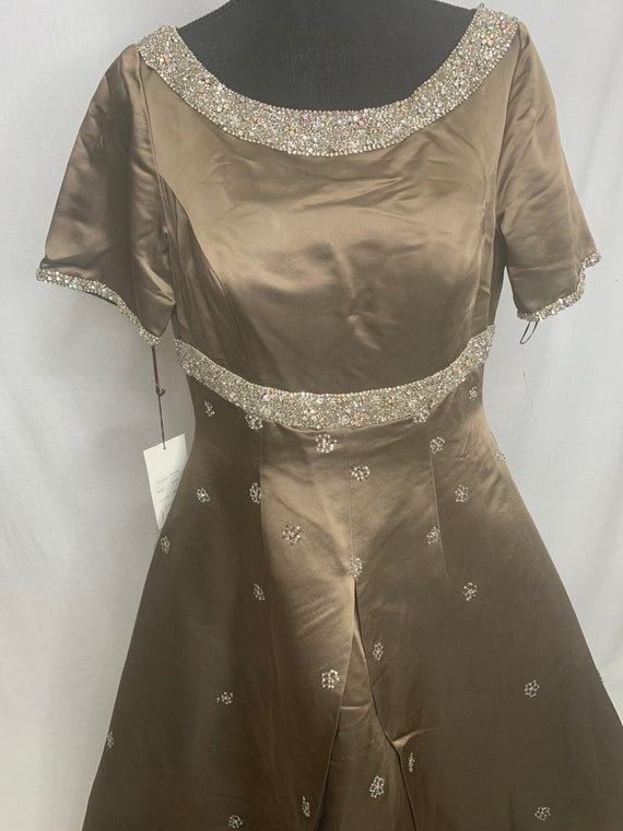 Vintage brown beaded ball gown
