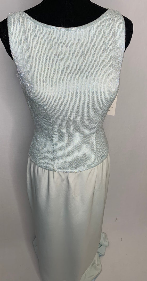 Vintage Baby blue beaded dress