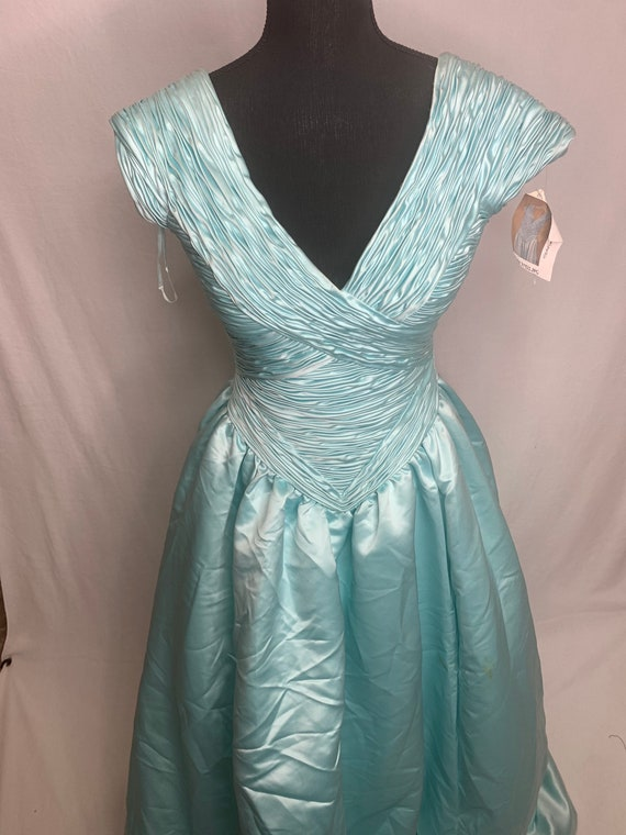 Vintage blue beautiful ball gown