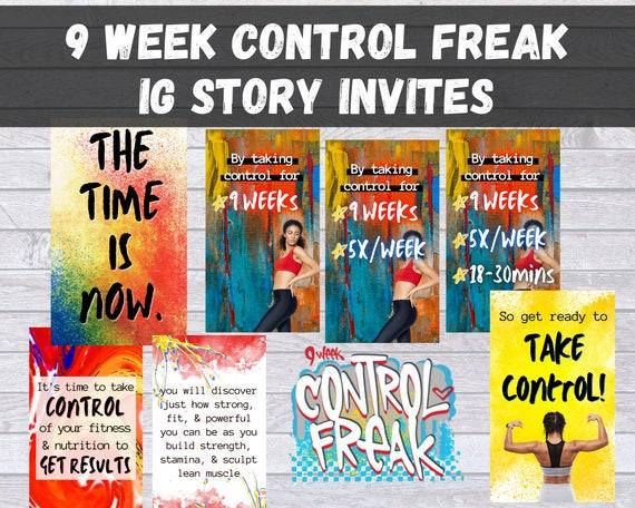 Canva Control Freak Story Images Control Freak Program Story Images Canva Template BB Coach Control Freak Story Control Freak Images