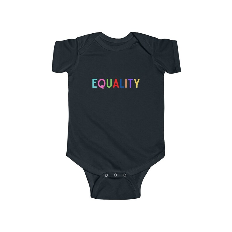 Love is Love Baby Shower Gift Feminist Baby Infant Fine Jersey Bodysuit. Liberal Baby Equality Onesie Black Lives Matter Baby Gift