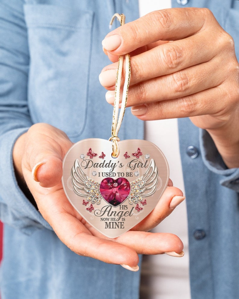 ceramic ornament red ornament for angel I will carry you with me until I see you agian ornament memorial gifts heart ornament