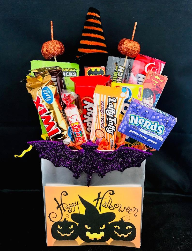Happy Halloween Candy Arrangement