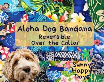 Aloha beach fun dog bandana