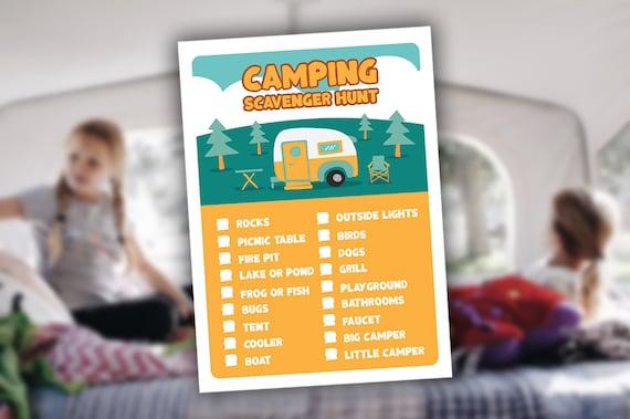 Kids Camping Scavenger Hunt Nature Scavenger Hunt Printable