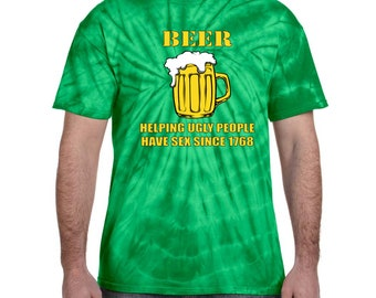 Beer Helping Ugly People Since 1768 Funny  Irish Mens Graphic Tank Top