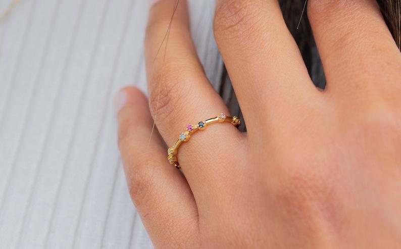 Dainty CZ ring for women.