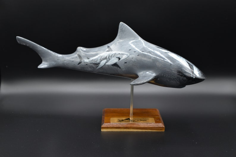 Hand-painted Supporting Shark Conservation Shark Sculptures