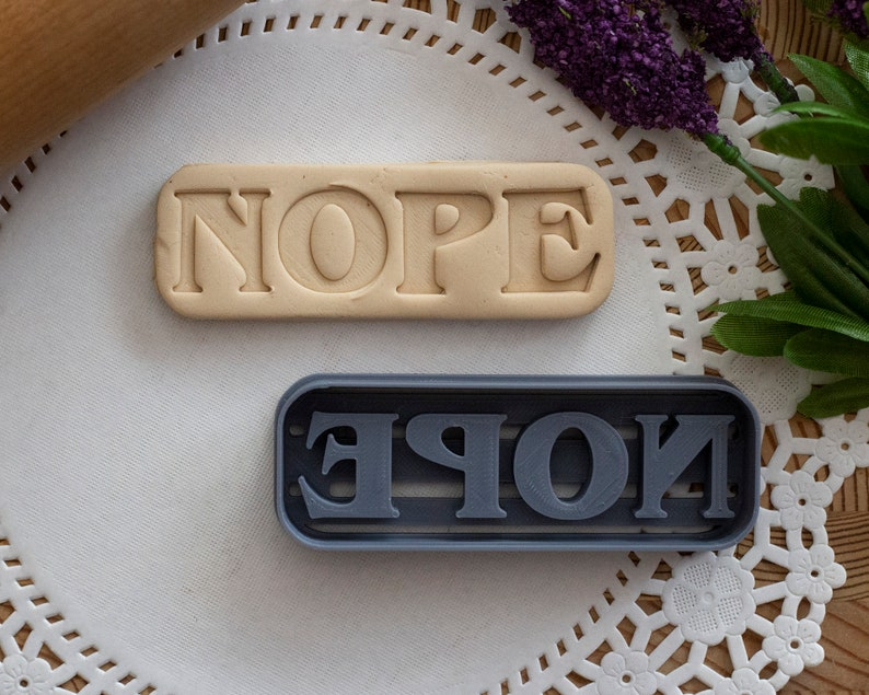 Nope Cookie Cutter