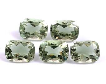 8x8x4 mm Size Loose Gemstone. Green Amethyst Gemstone Wt Green Amethyst Round Cut Cabochon Faceted Amethyst Round Lot 8 pec 13 ct