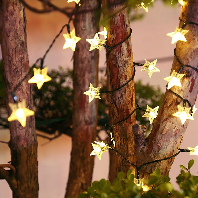 Twinkle Fairy Star LED Solar String Lights