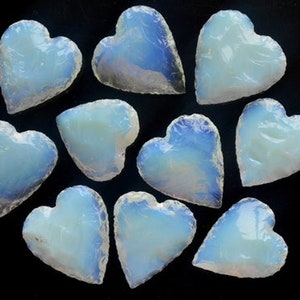 Details about  /Treated Blue Opalite Opal Moon Carving Wholesale Mix Lot Gemstone