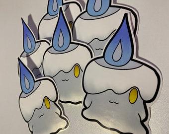Holographic Ampharos Chandelure Mimikyu Pumpkaboo HalloweenPokemon Vinyl Sticker