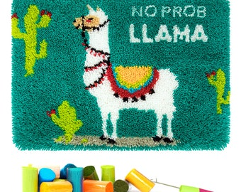 Latch Hook Rug Kits, Kids Adults Carpet Embroidery Set Beginners Cross Stitch DIY Crochet Needlework Crafts Kits with Gift Box,24X16 Inch