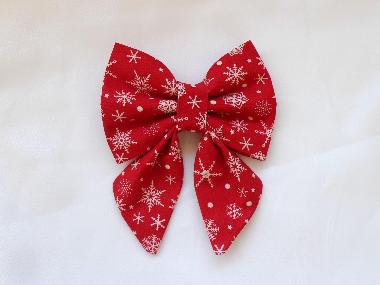 Dog bow tie with Christmas print