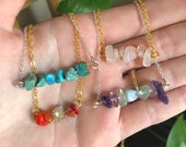 Raw Crystal Bead Bar Necklace